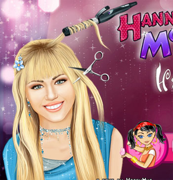 Hannah montana real haircuts game for girls 2012 play hannah montana