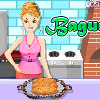 game cooking bake baguette french bread online