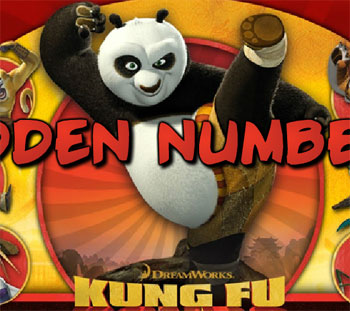 kung fu panda 2 hidden numbers game 2012