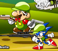 mario & sonic zombie killer free game online 2012