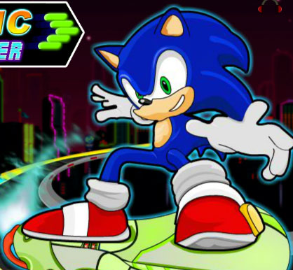 sonic skate glider free game online 2012