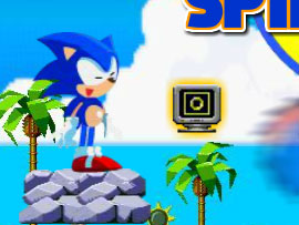 sonic spin break free game online 2012