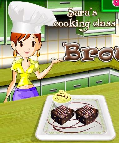 sara cooking class brownie recipe game online