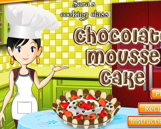 sara cooking class chocolate mousse cake recipe game online
