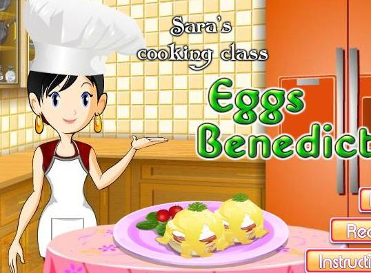 sara cooking class eggs benedict recipe game online