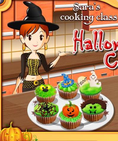 sara cooking class halloween cup cakes recipe game online - Halloween Cake Games