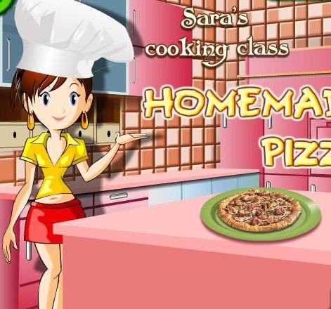 sara cooking class homemade pizza recipe game online