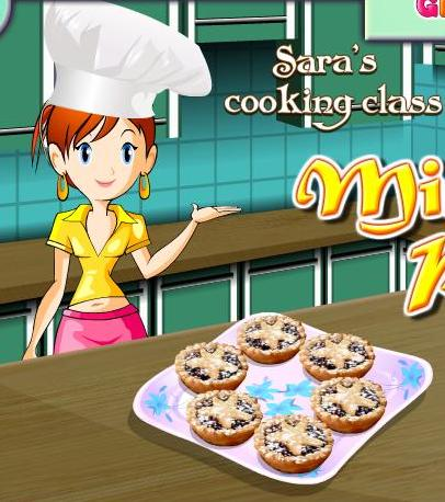 sara cooking class mince pies recipe game online