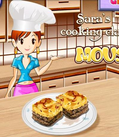 sara cooking class moussaka recipe game online