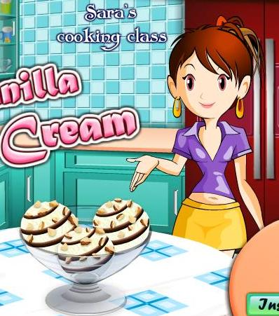 sara cooking class vanilla ice cream recipe game online
