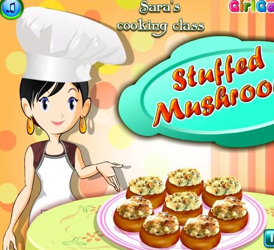 saras cooking class game stuffed mushrooms recipe online