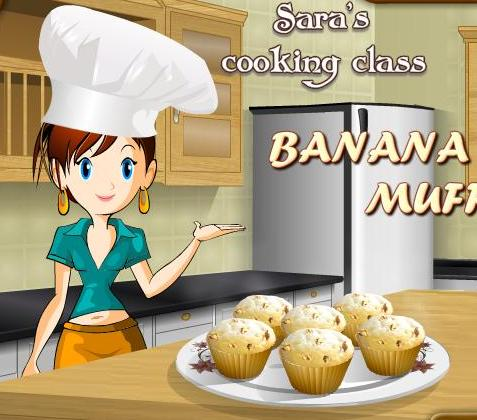 saras cooking class game banana muffins recipe online