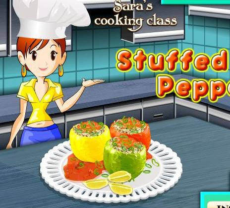 sara cooking class stuffed peppers recipe game online