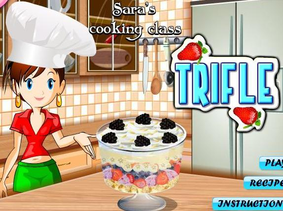 saras cooking class game trifle recipe online