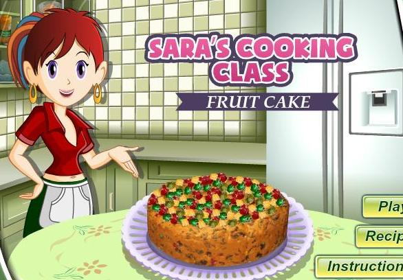 sara cooking class game fruit cake recipe online