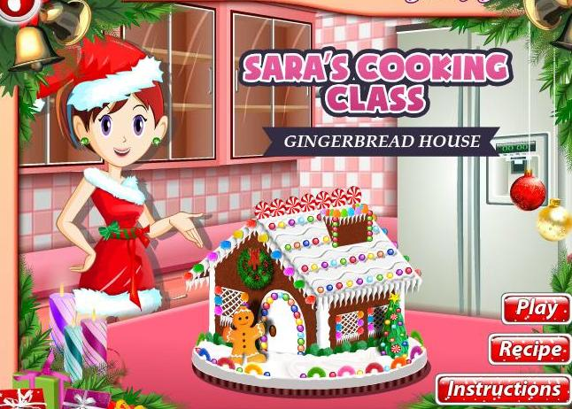 sara cooking class game gingerbread house recipe online