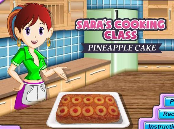 sara cooking class game pineapple cake recipe online