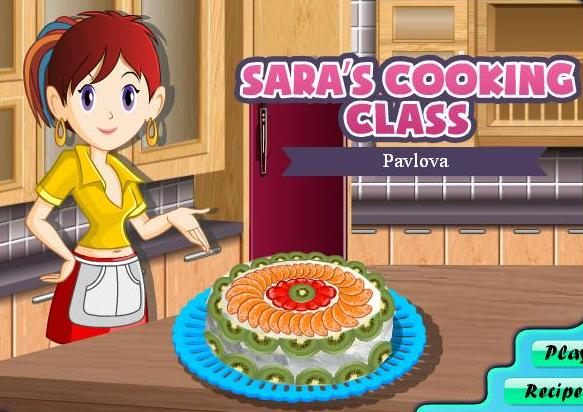 saras cooking class game pavlova recipe online
