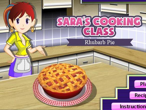 saras cooking class game rhubarb pie recipe online