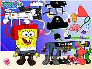 لعبة سبونج بوب سكوير بانس sponge bob nickelodeon dress up