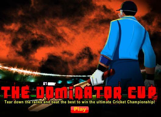 free online dominator cup cricket game