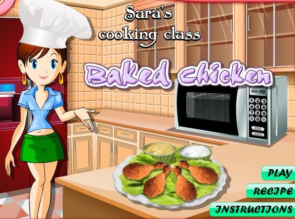the game sara cooking class baked chicken recipe online