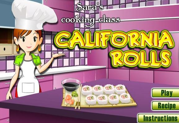 the game sara cooking class california rolls recipe online