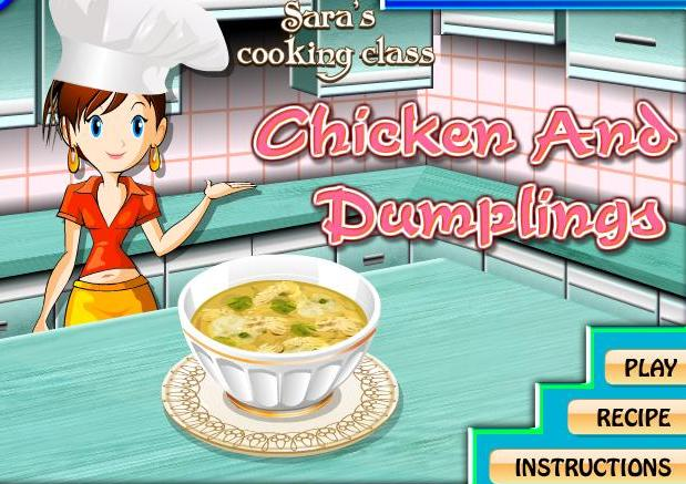 the game sara cooking class chicken and dumplings recipe online