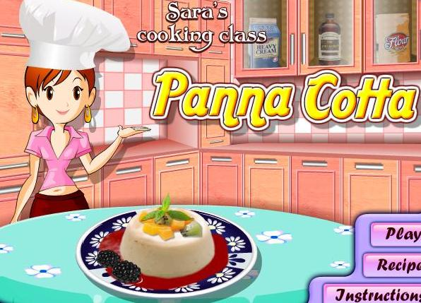 the game sara cooking class panna cotta recipe online