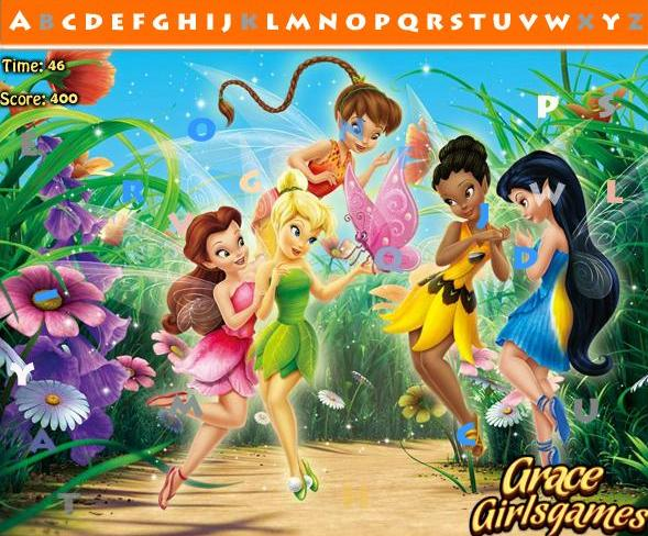 tinkerbell hidden alphabets hidden objects game