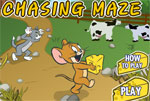 tom jerry in cheese chasing maze game