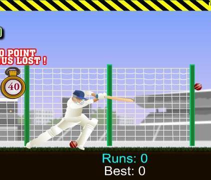 Permainan kriket blitz pemintal top online gratis