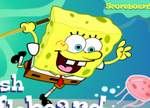 spongebob squarepants jellyfish shuffleboard game