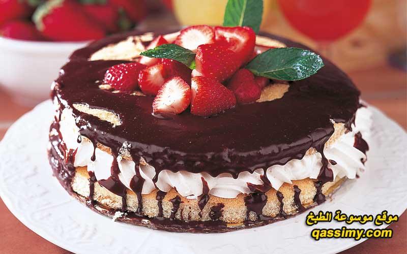 طريقة الكيك الفراولة والشوكولاته how_to_make_a_cake_L