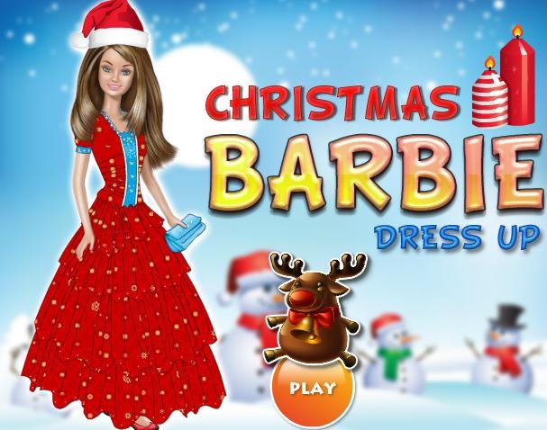 لعبة باربي تلبيس عيد الميلاد