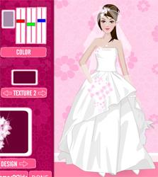 لعبة عرائس تصميم ثوب الزفاف للبنات