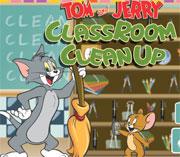 لعبة توم وجيري تنظيف الفصل   tom jerry classroom clean up