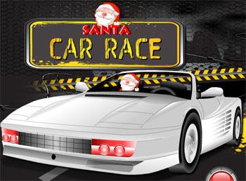 لعبة سيارة سباق سانتا