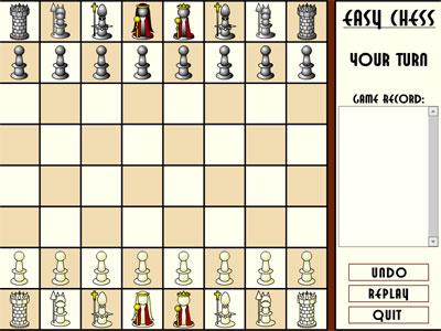 لعبة شطرنج سهلة