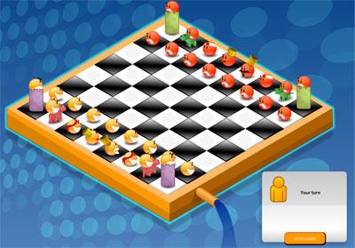 لعبة شطرنج الوجه المبتسم