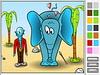 لعبة تلوين الفيل المستغرب
