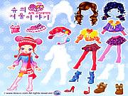 لعبة تلبيس اطفال | sue winter dress up game kids