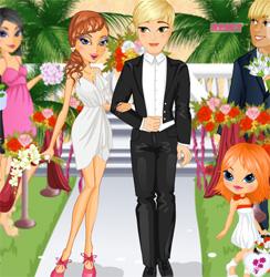 لعبة تلبيس العريس والعروسة للبنات