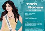 لعبة تلبيس يارا نعوم ملكة جمال مصر | yara naoum miss egypt fashion dresses