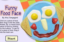 funny food face a drawing game online