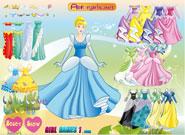 لعبة تلبيس سندريلا أميرة ديزني   disney princess