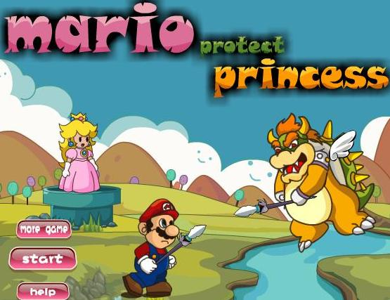 super mario protect princess game