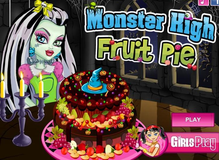 monster high fruit pie cooking girls game