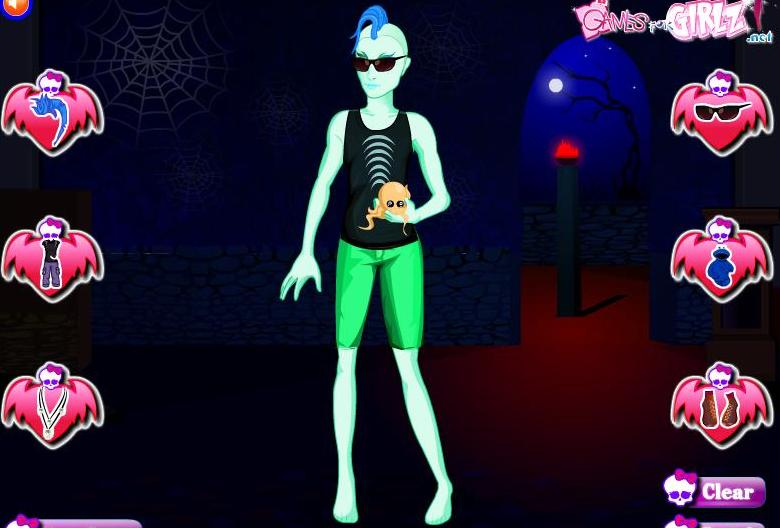 monster high gil style dress up game