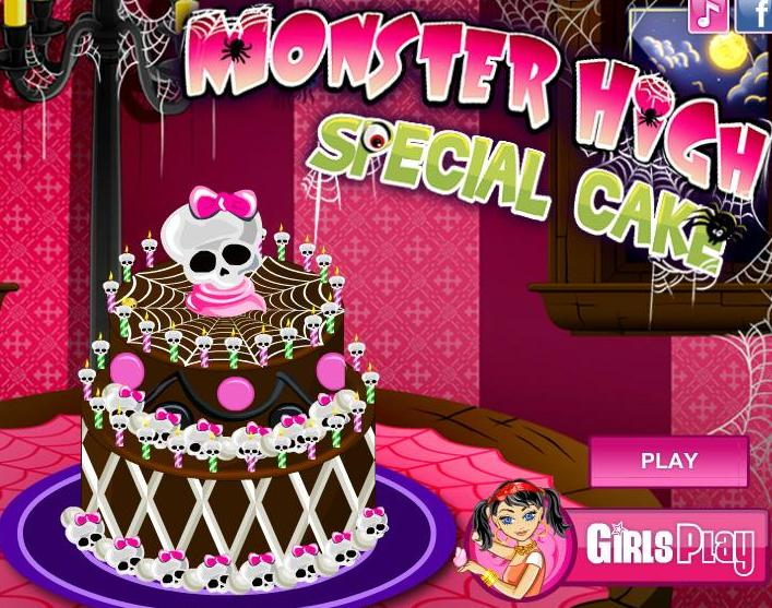 monster high special cake decorations girls game